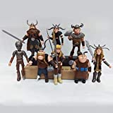 STORM GYRO Movie How to Train Your Dragon 8 pcs Figures Hiccup Astrid Stoick & Ruffnut