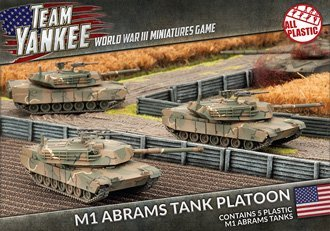 Team Yankee M1 Abrams Tank Platoon (Plastic) ~ FEB 26 by Flames of War