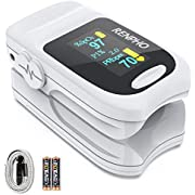 Oximeter, RENPHO Oxygen Saturation Monitor Finger Pulse Oximeter for Spo2 Perfusion Index and Pulse Rate with OLED Digital Display, Portable Heart Rate Monitor for Adults Children
