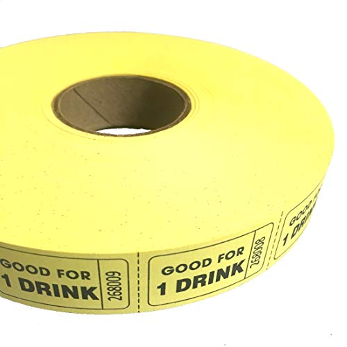 MUNCIE NOVELTY COMPANY Yellow Good For One Drink Ticket Roll