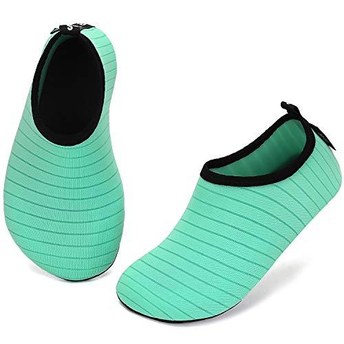 katliu Zapatos para Niño Niña Zapatos de Playa Bebe Zapatillas de Piscina Escarpines Calzado para Agua(033 Verde, 34/35 EU)