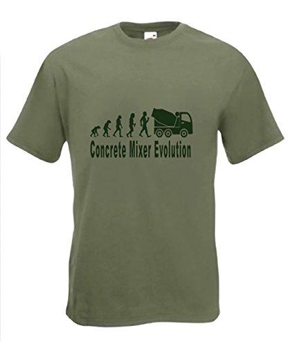 Evolutie naar Beton Mixer t-Shirt Grappige Cement Driver T-Shirt Maten Sm naar 2XXL