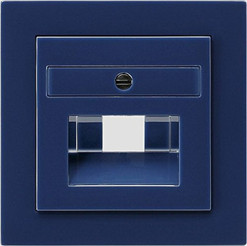Gira 027046 Abdeckung UAE IAE ISDN S, blau