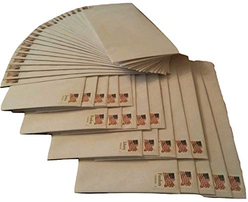 20 Forever Stamps Stamped Envelopes - #10 Security Self Seal Envelopes (4-1/8 x 9-1/2 inch) (One Pack)