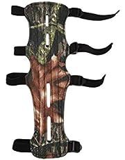 Brazo de Tiro con Arco Protector con Caja de Seguridad Ajustables 4 se Ajusta a Correas del Protector de antebrazo para Finger Caza Arco recurvado Protector y Brazo de escolta Guante
