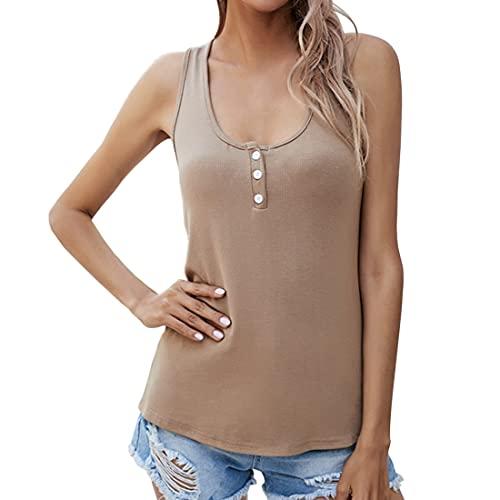 Damen Tops Sexy Hemd Ärmellose Slim fit...