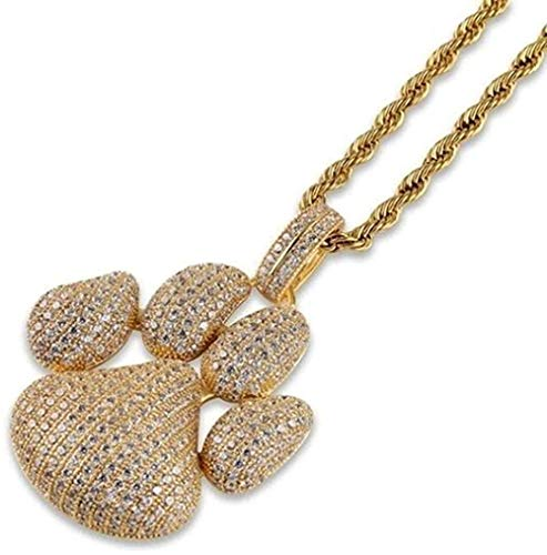 WLHLFL Necklace Dog Paw Print Bubble Pendant Necklace with Ice Chain 60 cm Pendant Necklace Girls Boys Gift