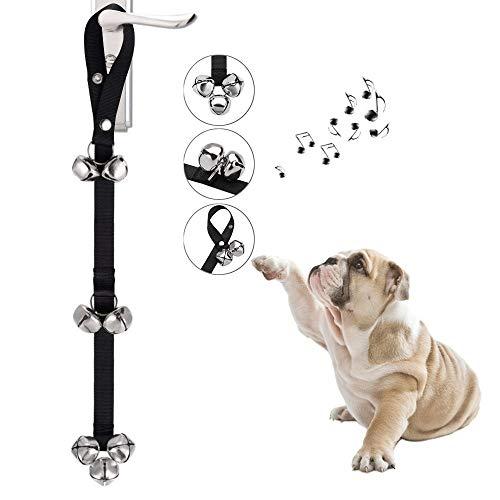 Ctbd Hund Türklingeln Ausbildung Töpfchen Glocken, Verstellbarer Länge Gürtel Dog Türklingel Fit für Haus-Training (3 Glocken unten)