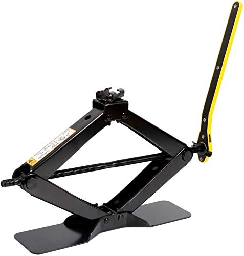 Car Scissor lift jack for SUV/MPV max 2 Tons capacity with hand crank trolley lifter with ratches (1 Pack)