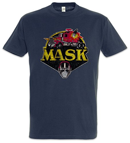 Urban Backwoods Mask Vintage Logo Herren T-Shirt Blau Größe XL
