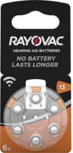 Varta Rayovac Acoustic Special 13 Hörgeräte-Zellen (1,4V, 310mAh, 10x 6-er Blister)