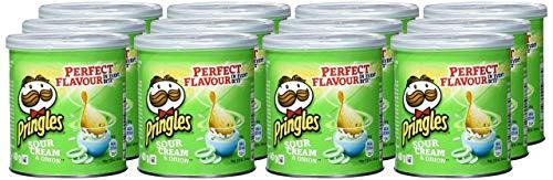Pringles - Sour Cream & Onion - 40 g, paquete de 12