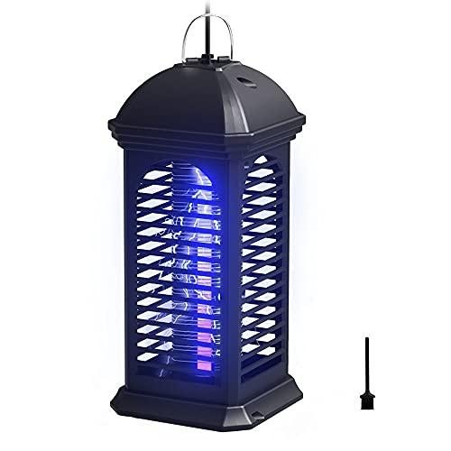 seenlast Insektenvernichter Elektrisch, Fliegenfalle Elektrisch Fluginsektenvernichter UV Insektenfalle Moskito Killer Mückenlampe Gegen Mücken Fliegen Bienen für Innen Aussen (Schwarz)