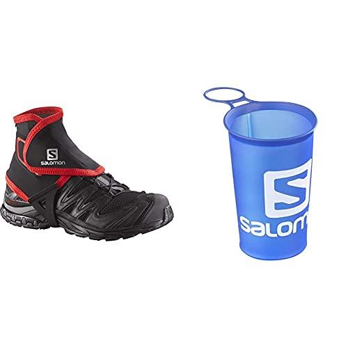 Salomon Trail Gaiters Polainas Altas Unisexo Trail Running Sanderismo + Cup Speed Copa Flexible 150Ml Trail Running Sanderismo