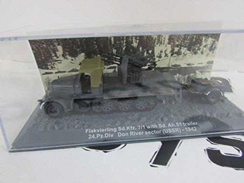 Unbekannt 1/72 Panzer FLAKVIERLING SD.KFZ. 7/1 with SD. AH. Trailer USSR 1942 DA2