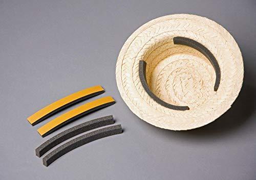 shoperama 3 Selbstklebende Schaumstoff Hut-Einlagen Polster zur Passoptimierung Verkleinerung Einlegeband Größenveränderung