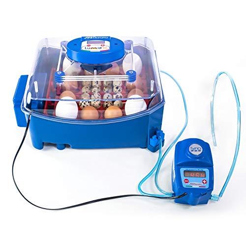 Borotto LUMIA 16 Expert - Brutmaschine mit wärmeisolierendem Material mit antibakteriellem Zusatz und automatischem Luftbefeuchter Sirio - für 16 Eier mittlerer/großer Dimension oder 64 kleine Eier