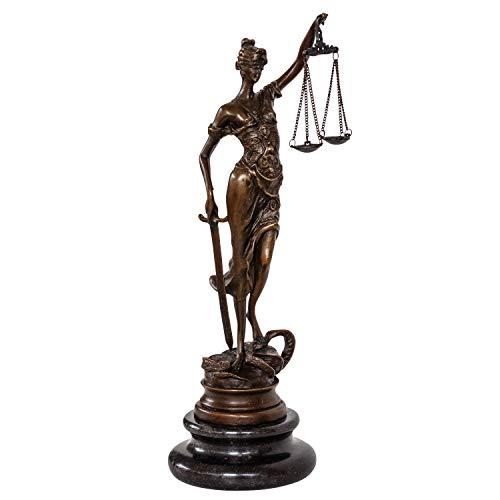 aubaho Bronzeskulptur Justitia Justizia Bronzefigur Bronze Figur Skulptur Antik-Stil
