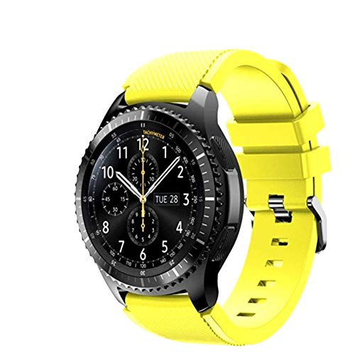 FunBand Gear S3 Frontier Cinturino, 22mm Braccialetto Morbido Sportivo di Ricambio in Silicone per Samsung Gear S3 Frontier / S3 Classic/Galaxy Watch 46mm / Moto 360 2nd Gen 46mm Smart Watch