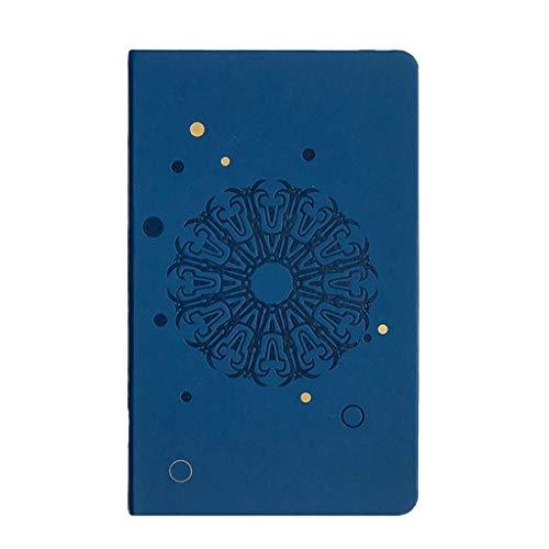 Libreta Cuaderno Agenda Cuaderno cuero de la PU de matriz de puntos libro de viento Cuenta Manual Libro Chino for los regalos Smooth escritura fácil de llevar Diarios para Escribir ( Color : Blue )