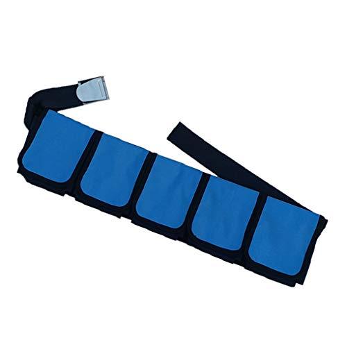 SM SunniMix Tauchgürtel mit Taschen Tauchgurt Tauchgewichte Gewicht Gürtel - 4 Taschen