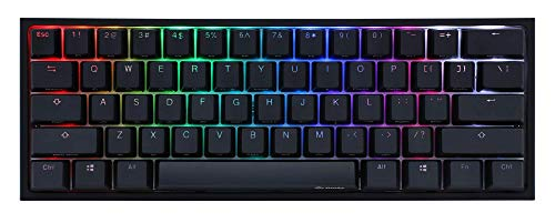 Ducky One 2ミニRGBチェリーMXスイッチPBTキーキャップ60%RGBメカニカルゲーミングキーボード (Cherry MX Red)