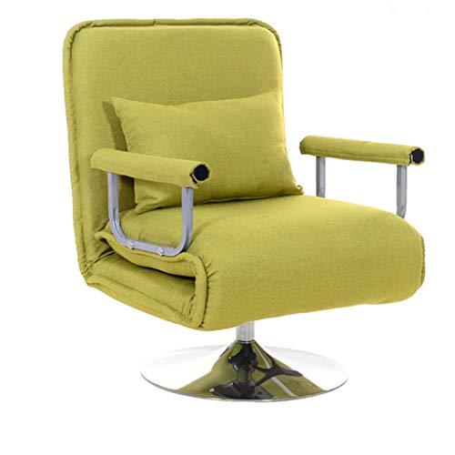 HUTNchar Schlafsofa Klapp Cabrio Schlafsessel, verstellbare Rückenlehne Kopfstütze in 10 Position, einfache Montage, Single Recliner zum Wohnen, Schlafzimmer Kleine Wohnung (Color : Grün)