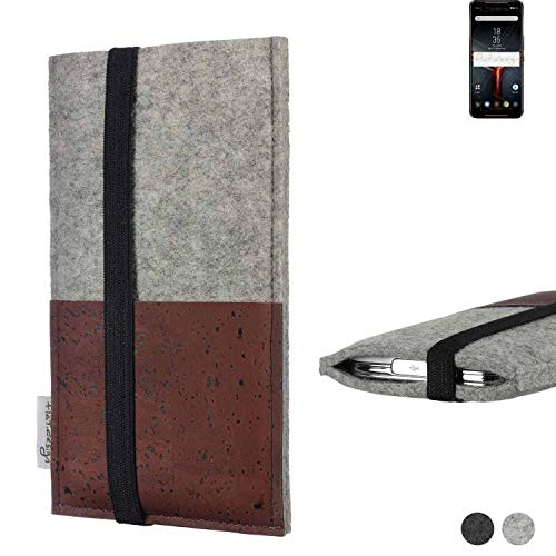 flat.design Phone Case SINTRA For Asus ROG Phone II - Case Cork Etui Fair Sleeve Bag Felt