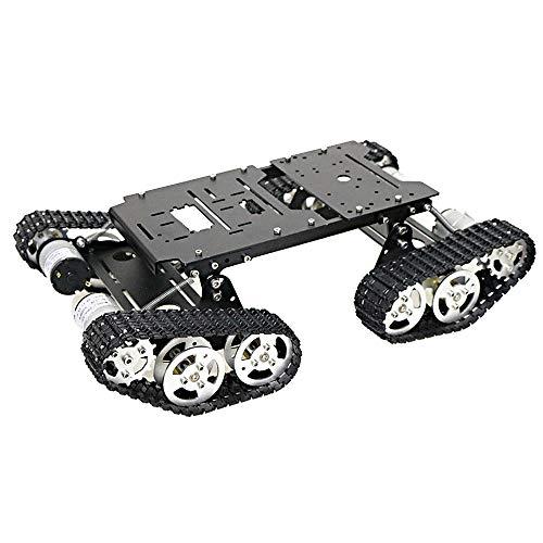 Kedelak Smart Car Robot Car Platform 4WD Robotertank-Chassis-Kit Stoßdämpfendes Roboter-DIY-Metalltank-Chassis Arbeiten Sie mit dem Raspberry Pi DIY-Kit STEM Education
