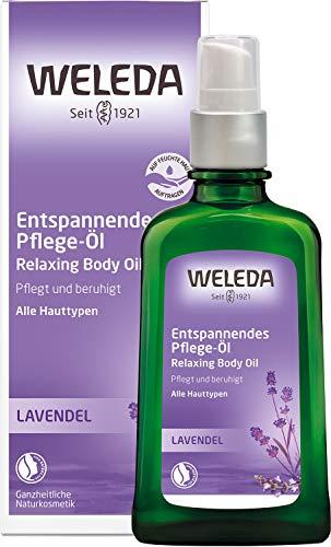 WELEDA Lavendel Entspannendes Pflege-Öl, ätherisches Naturkosmetik Massage- und Körperöl aus Lavendel zur Pflege und Entspannung für den Körper mit angenehm beruhigendem Duft (1 x 100 ml)