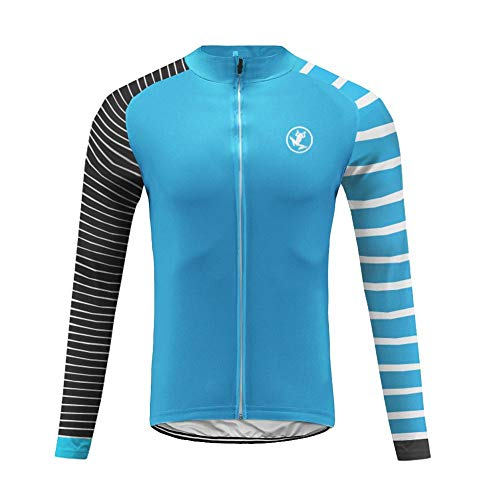 Uglyfrog Herren MTB Radsport Winter Jersey Thermisches Fahrradtrikot Vlies Thermo Langarm Shirt