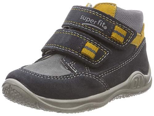 Superfit Baby Jungen Universe Sneaker, Grau (Grau/Gelb 20), 21 EU