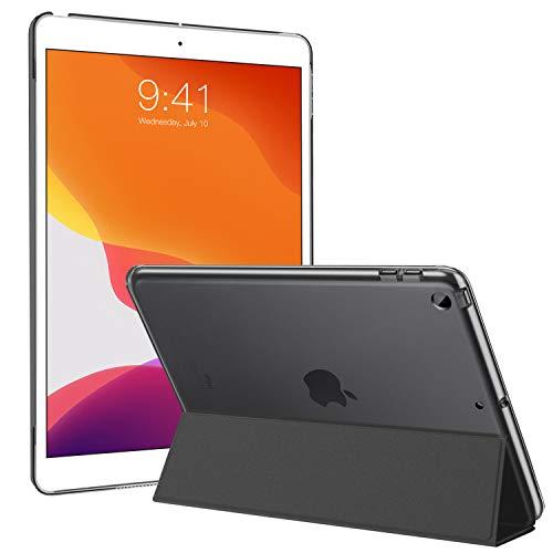 Ztotops Hülle für Neu iPad 10.2 2019, PU Leder Tasche Schutzhülle mit Transluzent Rücken Deckel Auto Schlaf/Wach Funktion Smart Cover für iPad 7. Gen 10.2