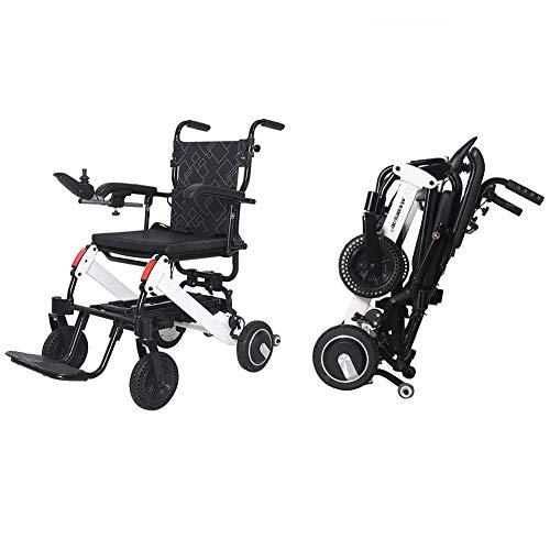 ANAN 50lbs Ultra Light Elektro Rollstuhl, Faltbarer Elektrische Rollstühle mit Links und rechts verstellbarem 360 ° Joystick und manueller Feststellbremse,Withoutrearcontroller