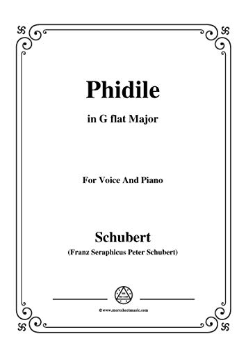 schubert-phidile,in g flat major,for voice&piano (french edition) ebook:  franz seraphicus peter, schubert: amazon.in: kindle store  amazon.in