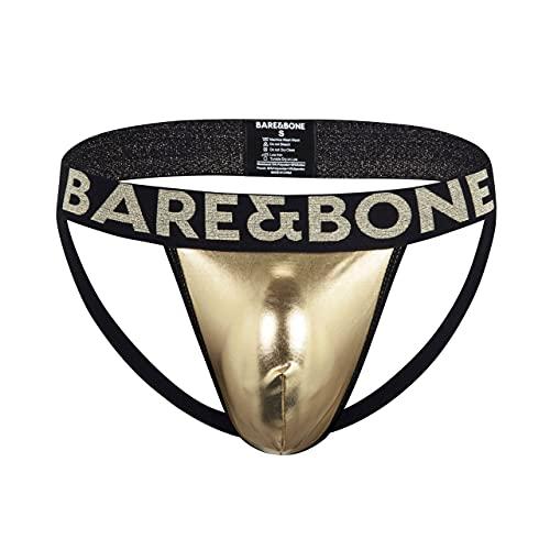 """Bare&Bone Mens Gold Jockstrap, Medium 32""""-33.5"""""""