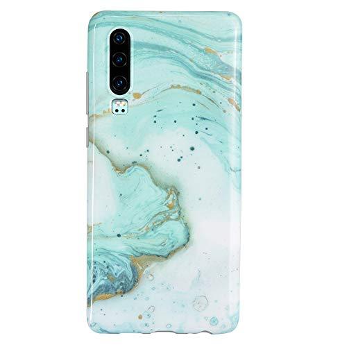 miaycases Huawei P30 Hülle Matt Marmor Weich Silikon Handyhülle Stein Marble Ultra Dünn Handytasche Flexibel Kratzfest Schutzhülle TPU Cover für Huawei P30 (15)