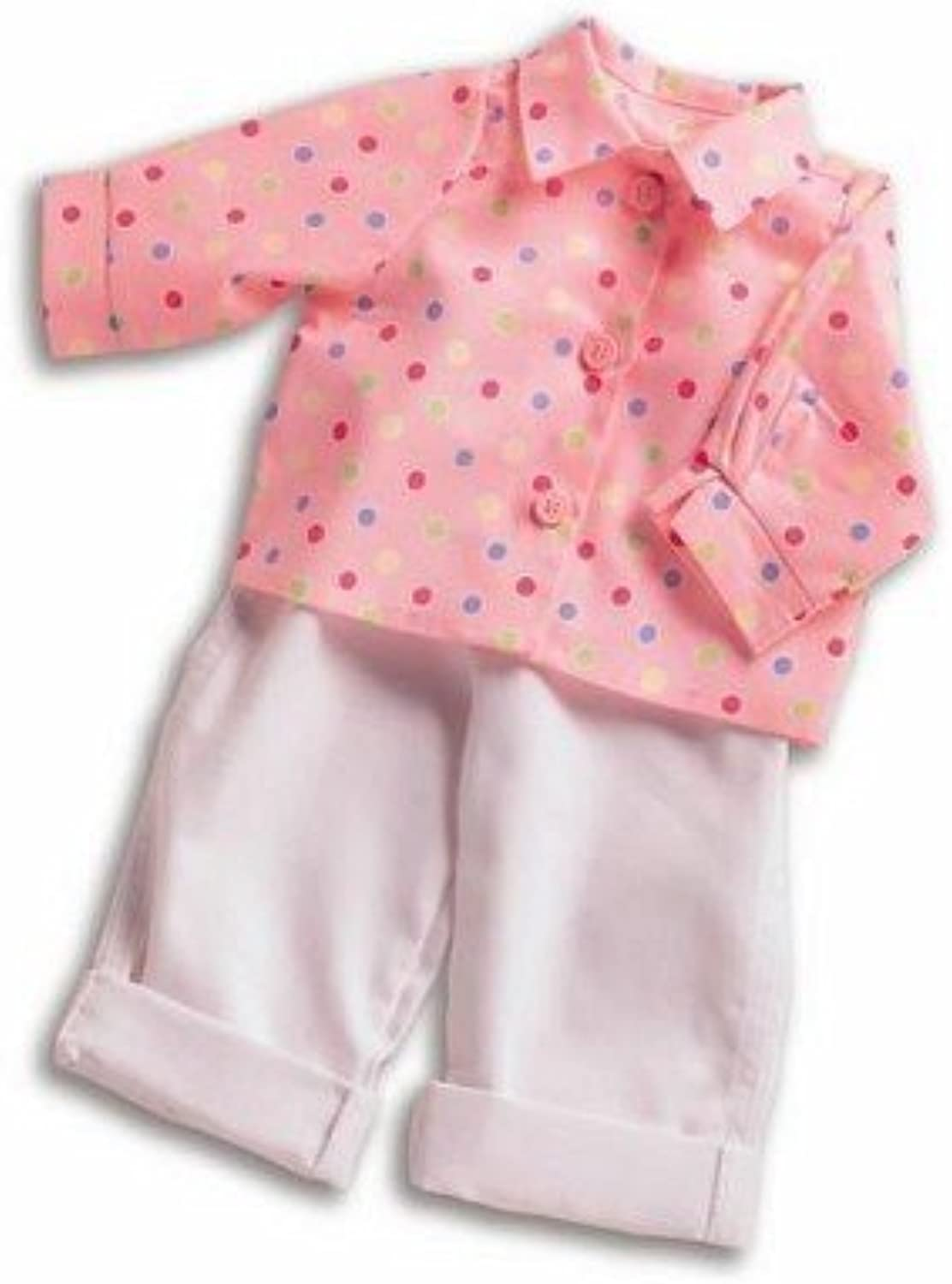 Polka Dot Shirt & White Jeans Outfit for Middleton Dolls 17 to 20 by Middleton Doll