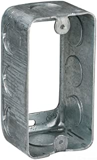 Steel City 59361-1/2 Handy/Utility Outlet Box Extension Ring, Drawn Construction, 4-Inch Length by 2-1/8-Inch Width by 1-7/8-Inch Depth, Galvanized