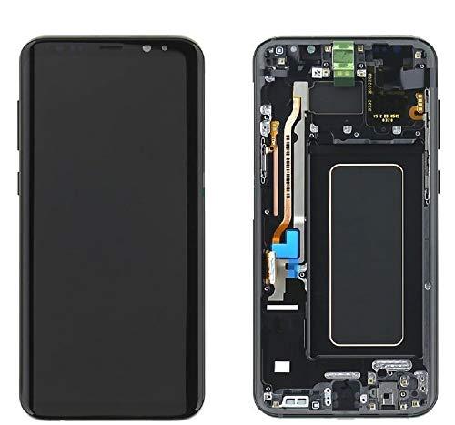 SPES Original LCD AMOLED Display für Samsung Galaxy S8 Plus G955F Touchscreen Rahmen SCHWARZ mit Werkzeug-Set
