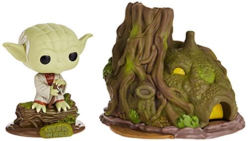 Funko - Pop! Town: Star Wars - Yoda's Hut Figura Coleccionable, Multicolor (46765)