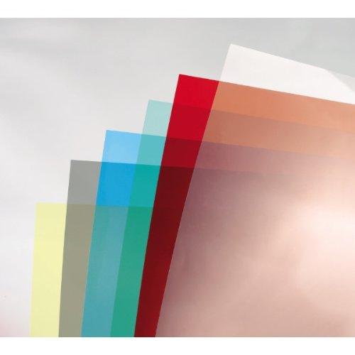 GBC CE011830E - Portada de encuadernación PVC transparente DIN A4 180 micras (Pack 100) color rojo: Amazon.es: Oficina y papelería