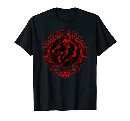 Viking Fenrir Fenris Wolf Celtic Triskelion Symbol T-Shirt