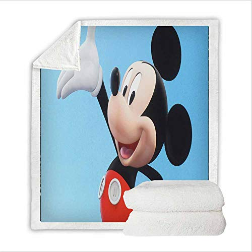 Fgolphd Disney Mickey Minnie Mouse Character Dibujos Animados Manta de forro polar, adecuada para oficina, sofá, cama, salón, dormitorio, para niños y adultos (130 x 150 cm,4)
