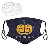 Buwei Fiesta de Halloween para Adultos Disfraz de Cara Dibujos Animados Calabaza Bat Imprimir...