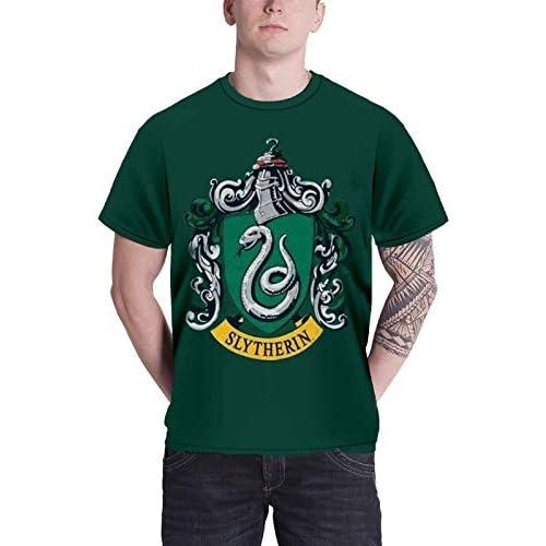 Harry Potter T Shirt Slytherin Crest Emblem logo Ufficiale Uomo verde