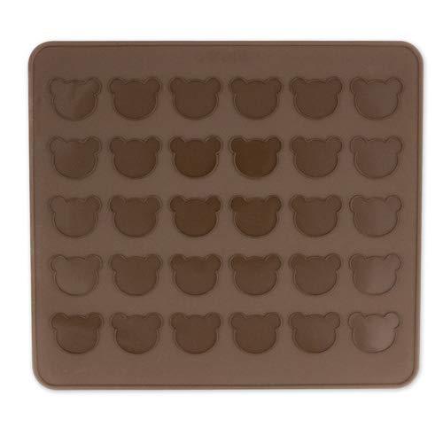 Dolcedeco Meine Backwelt Tapis en silicone à macaron avec 30 cavités