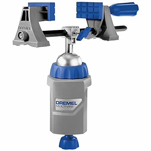 Dremel 2500-01 Rotary Tool Multi-Vise, 3-in-1 Attachment with 360 Degree Stationary Vise, Stand-Alone Clamp, and Tool Holder , Grey
