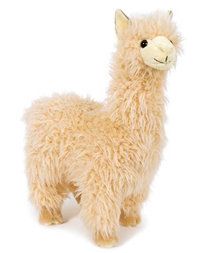 Unbekannt Stofftier Alpaka, 33 cm, beige, Kuscheltier Plüschtier, Lama, Premium Edition