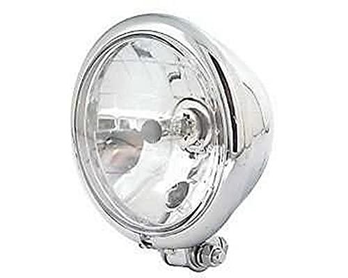 ShinYo Motorrad-Scheinwerfer H4 Hauptscheinwerfer Ø157mm Bates Klarglas unten Chrom, Unisex, Multipurpose, Ganzjährig, Metall
